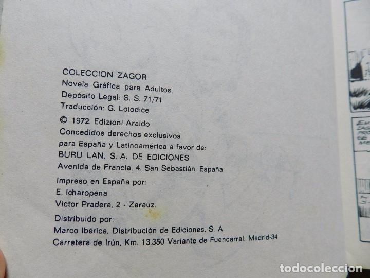 Cómics: ZAGOR Nº 17 EL CIERVO SAGRADO año 1972 BURU LAN ediciones novela grafica para adultos - Foto 5 - 94549795