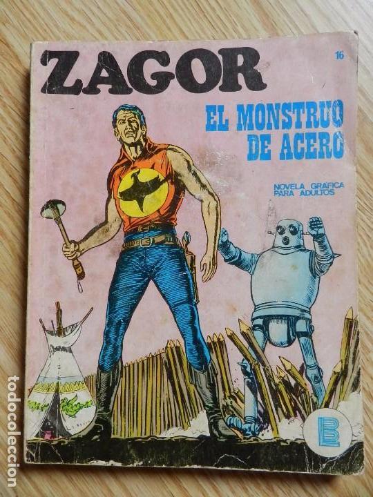 ZAGOR Nº 16 EL MONSTRUO DE ACERO AÑO 1972 BURU LAN EDICIONES NOVELA GRAFICA PARA ADULTOS (Tebeos y Comics - Buru-Lan - Zagor)