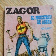 Cómics: ZAGOR Nº 16 EL MONSTRUO DE ACERO AÑO 1972 BURU LAN EDICIONES NOVELA GRAFICA PARA ADULTOS. Lote 94550067