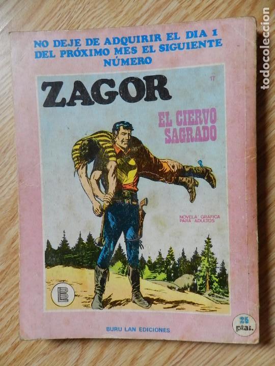 Cómics: ZAGOR Nº 16 EL MONSTRUO DE ACERO año 1972 BURU LAN ediciones novela grafica para adultos - Foto 3 - 94550067