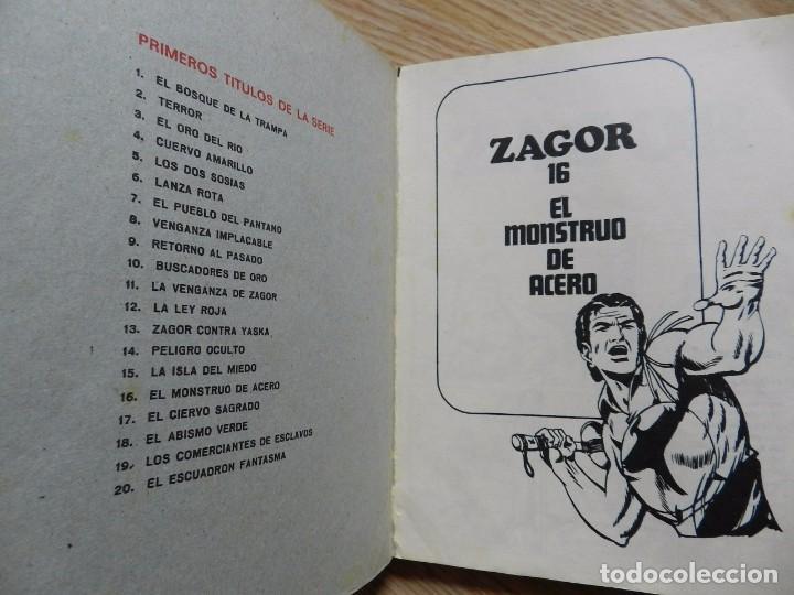 Cómics: ZAGOR Nº 16 EL MONSTRUO DE ACERO año 1972 BURU LAN ediciones novela grafica para adultos - Foto 4 - 94550067