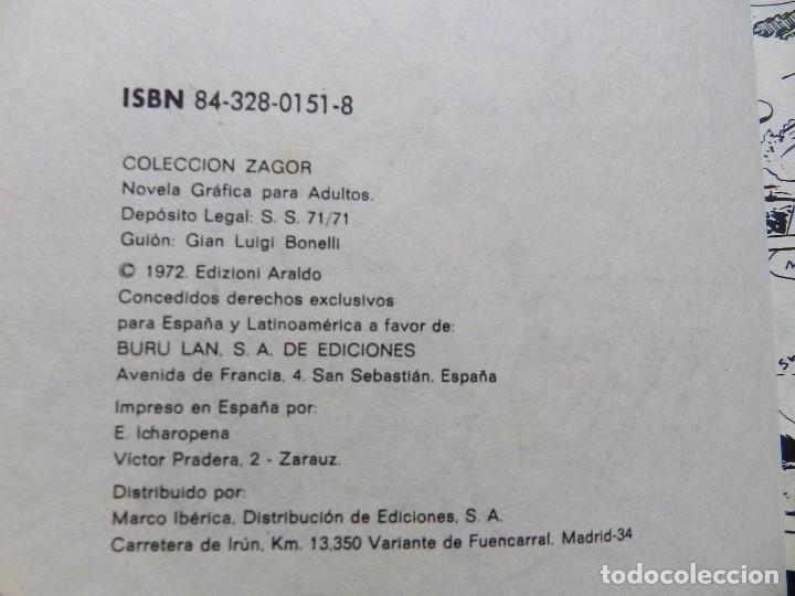 Cómics: ZAGOR Nº 16 EL MONSTRUO DE ACERO año 1972 BURU LAN ediciones novela grafica para adultos - Foto 5 - 94550067