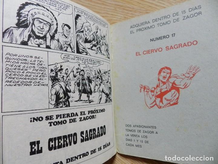 Cómics: ZAGOR Nº 16 EL MONSTRUO DE ACERO año 1972 BURU LAN ediciones novela grafica para adultos - Foto 6 - 94550067