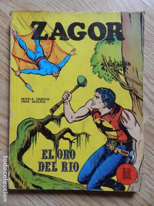 ZAGOR Nº 3 EL ORO DEL RIO AÑO 1972 BURU LAN EDICIONES NOVELA GRAFICA PARA ADULTOS (Tebeos y Comics - Buru-Lan - Zagor)