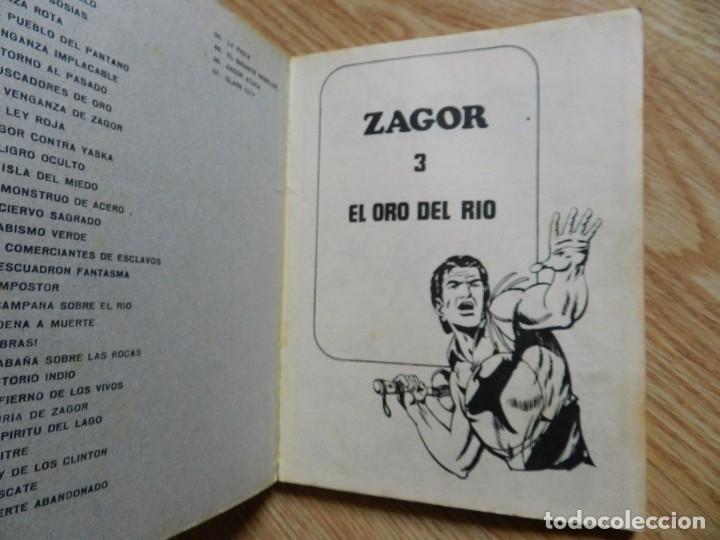 Cómics: ZAGOR Nº 3 EL ORO DEL RIO año 1972 BURU LAN ediciones novela grafica para adultos - Foto 4 - 94550211