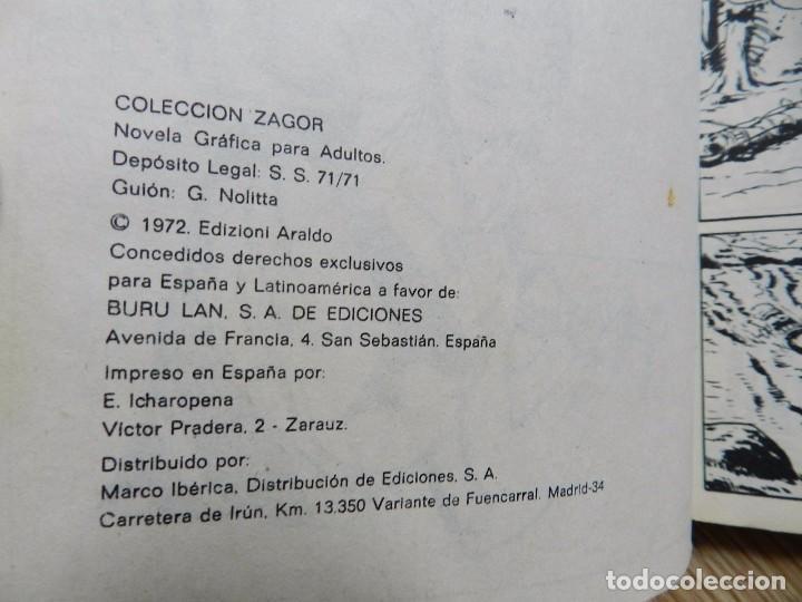 Cómics: ZAGOR Nº 3 EL ORO DEL RIO año 1972 BURU LAN ediciones novela grafica para adultos - Foto 5 - 94550211