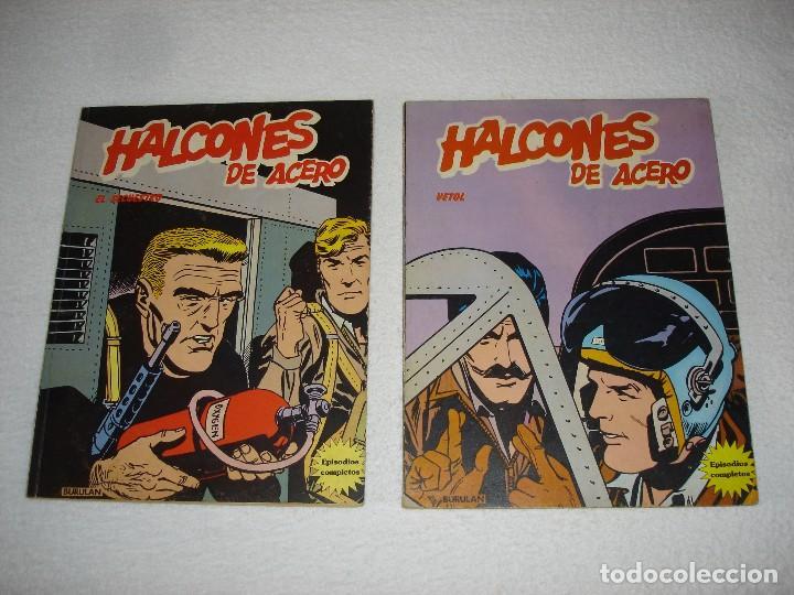 HALCONES DE ACERO (ALBUMES I Y II) EL SECUESTRO Y VETOL - BURULAN EDICIONES 1973 (Tebeos y Comics - Buru-Lan - Halcones de Acero)