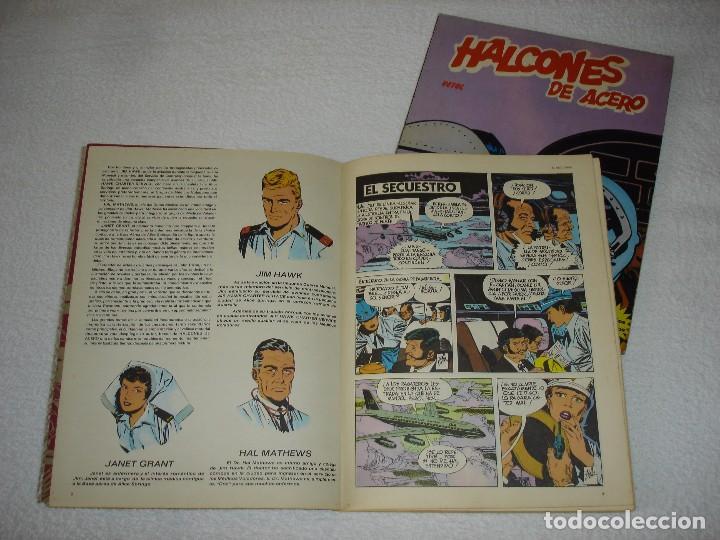 Cómics: HALCONES DE ACERO (ALBUMES I y II) EL SECUESTRO Y VETOL - BURULAN EDICIONES 1973 - Foto 2 - 95561751