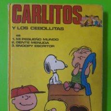 Cómics: CARLITOS Y LOS CEBOLLITAS TOMO EN TAPAS DURAS Nº 1 DE BURU LAN CON 3 AVENTURAS COMPLETAS DE 1971. Lote 96639711