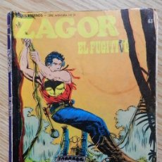 Cómics: ZAGOR Nº 63 EL FUGITIVO AÑO 1972 BURU LAN EDICIONES NOVELA GRAFICA PARA ADULTOS HEROES ETERNOS SERIE. Lote 97505515