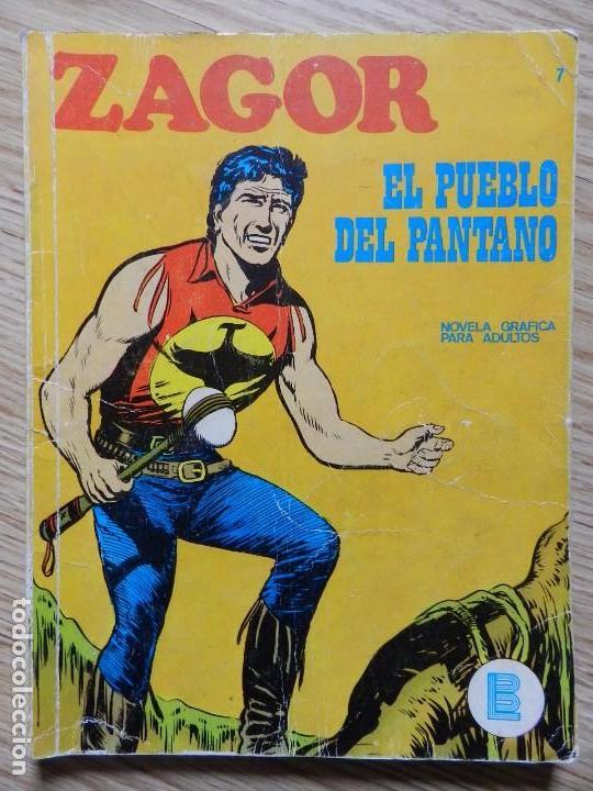 ZAGOR Nº 7 EL PUEBLO DEL PANTANO AÑO 1971 BURU LAN EDICIONES NOVELA GRAFICA PARA ADULTOS (Tebeos y Comics - Buru-Lan - Zagor)