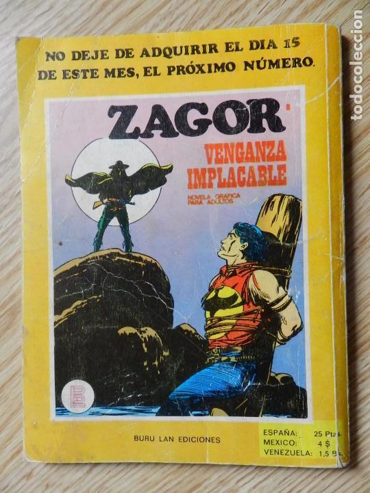 Cómics: ZAGOR Nº 7 EL PUEBLO DEL PANTANO año 1971 BURU LAN ediciones novela grafica para adultos - Foto 3 - 97505831