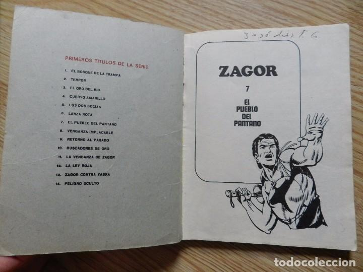 Cómics: ZAGOR Nº 7 EL PUEBLO DEL PANTANO año 1971 BURU LAN ediciones novela grafica para adultos - Foto 4 - 97505831