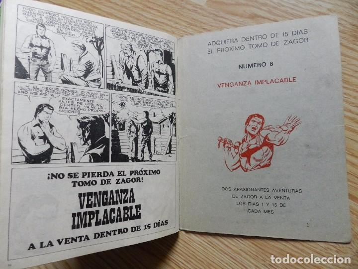 Cómics: ZAGOR Nº 7 EL PUEBLO DEL PANTANO año 1971 BURU LAN ediciones novela grafica para adultos - Foto 5 - 97505831
