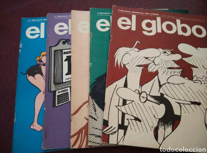 REVISTA EL GLOBO. NUMEROS 3, 4, 9, 11, 17 (Tebeos y Comics - Buru-Lan - Otros)