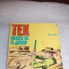 Cómics: TEX 47 - MUERTE EN EL ABISMO. Lote 98075379