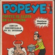 Cómics: POPEYE Nº 27 - POPEYE SE ALISTA EN LA MARINA - BURULAN COMICS 1974. Lote 98493291