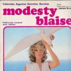 Cómics: MODESTY BLAISE. BURULAN 1974. COMPLETA 24 EJEMPLARES.. Lote 98542375