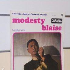 Cómics: COLECCION AGENTES SECRETOS MODESTY BLAISE Nº 10 - BURU LAN -. Lote 98877715