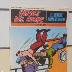 Cómics: HEROES DEL COMIC EL HOMBRE ENMASCARADO Nº 23 INVASION - BURU LAN -. Lote 98889155