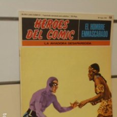 Cómics: HEROES DEL COMIC EL HOMBRE ENMASCARADO Nº 18 LA AVIADORA DESAPARECIDA - BURU LAN -. Lote 98889199
