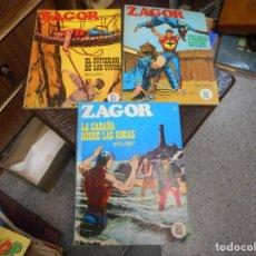 Cómics: LOTE ZAGOR BURU LAN NUMEROS 14 25 27 MUY BUEN ESTADO. Lote 99676491