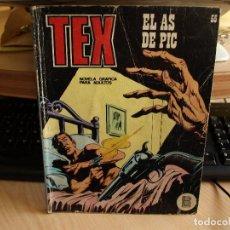 Cómics: TEX - NÚMERO 55 - EL AS DE PIC - FORMATO TACO - BURULAN. Lote 99972159