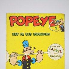 Cómics: CÓMIC POPEYE / REY DE LAS ESPINACAS - Nº 1 - EDITORIAL BURU LAN - AÑO 1970. Lote 100146407