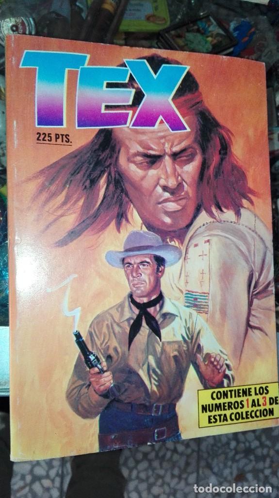 TEX CONTIENE LOS NUMEROS DEL 1 AL 3 (Tebeos y Comics - Buru-Lan - Tex)