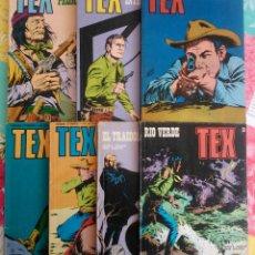 Cómics: TEX Nº 51, 54, 77, 78, 79, 81 Y 84 (BURU LAN 1972/74) 7 NOVELAS.. Lote 100674443