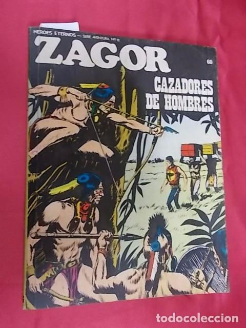 ZAGOR. Nº 60. CAZADORES DE HOMBRES. BURU LAN (Tebeos y Comics - Buru-Lan - Zagor)