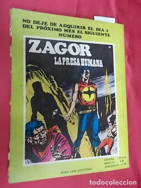 Cómics: ZAGOR. Nº 60. CAZADORES DE HOMBRES. BURU LAN - Foto 11 - 101944559