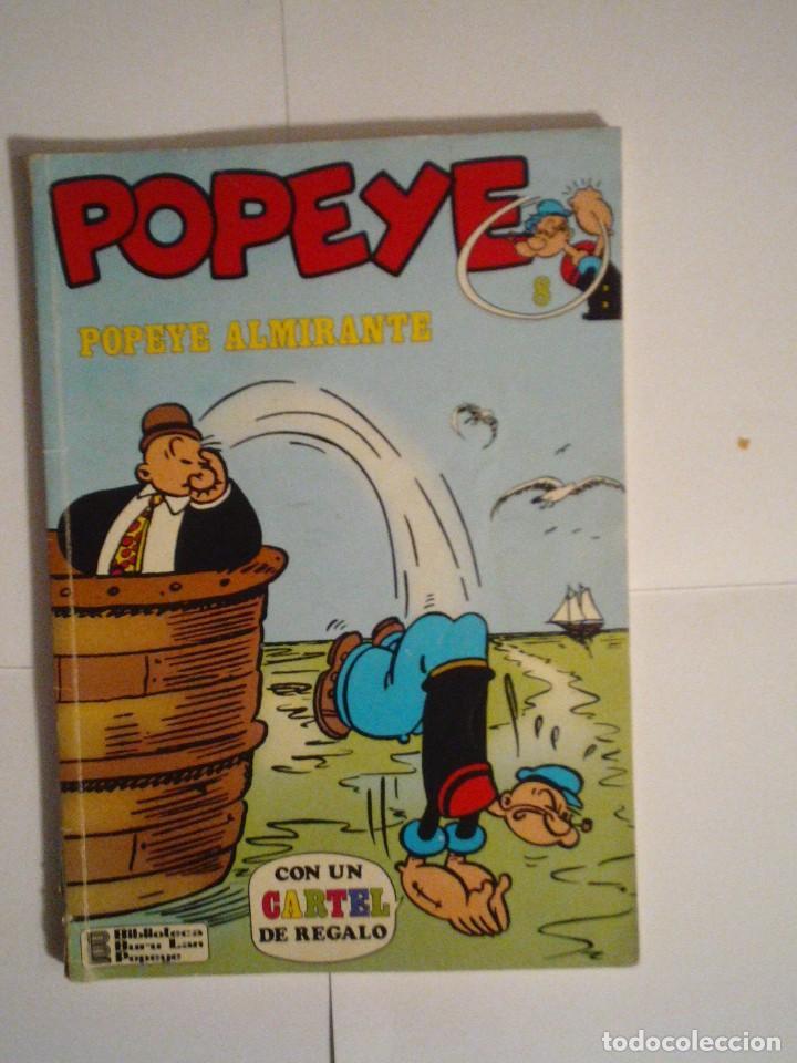 POPEYE - POPEYE ALMIRANTE - BURU LAN - NUMERO 8 - BUEN ESTADO - CJ 70 - GORBAUD (Tebeos y Comics - Buru-Lan - Popeye)