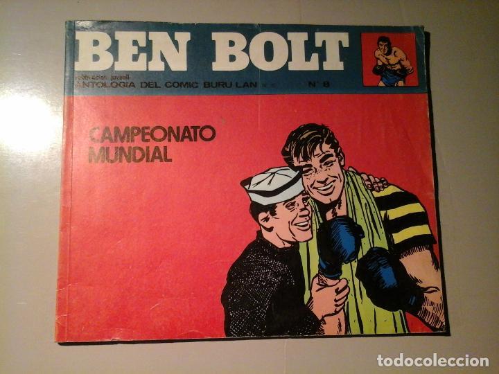 BEN BOLT. Nº 8. 1973. CAMPEONATO MUNDIAL. BOXEO. CÓMICS. NOVELA NEGRA EN VIÑETAS.CÓMIC BURU LAN.. (Tebeos y Comics - Buru-Lan - Otros)