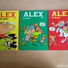 Cómics: LOTE COMICS ALEX. NUM 2, 5 Y 6 (BURU LAN 1973). Lote 103503223