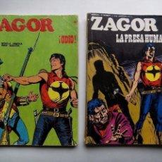 Cómics: LOTE DE 2 CÓMICS. ZAGOR. Nº 48 ¡ODIO!. Nº 61 LA PRESA HUMANA. BURU LAN EDICIONES. 1972. . Lote 103771151