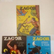 Cómics: LOTE ZAGOR NUM. 1,3 Y 9. Lote 103866698