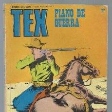 Cómics: TEX 77: PIANO DE GUERRA, 1973, BURU LAN, BUEN ESTADO. Lote 106037535