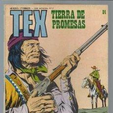 Cómics: TEX 84: TIERRA DE PROMESAS, 1974, BURULAN, BUEN ESTADO. Lote 106039355