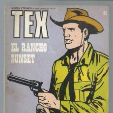 Cómics: TEX 88: EL RANCHO SUNSET, 1974, BURULAN, BUEN ESTADO. Lote 106040219