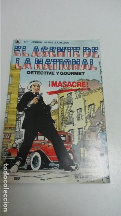 EL AGENTE DE LA NATIONAL - DETECTIVE Y GOURMET - MASACRE - Nº 1 C83 (Tebeos y Comics - Buru-Lan - Zagor)
