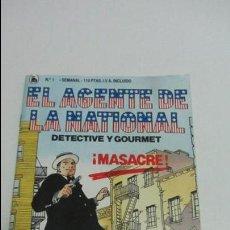 Cómics: EL AGENTE DE LA NATIONAL - DETECTIVE Y GOURMET - MASACRE - Nº 1 C83. Lote 106063567
