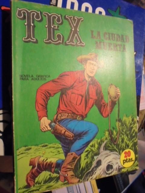 TEX - LA CIUDAD MUERTA - NUMERO 4 - PORTADA FONDO VERDE NO AMARILLO - COMO NUEVO - 1970 (Tebeos y Comics - Buru-Lan - Tex)