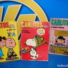 Comic revista CARLITOS descatalogada 3 numeros BURU LAN edicion 1971