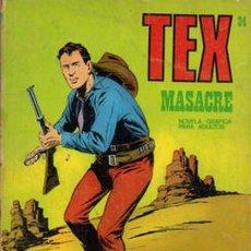 Cómics: TEX- BURU LAN- Nº 24 -MASACRE -1971- GRAN OBRA DE GALLEP- BUEN ESTADO- ESCASO-DIFÍCIL-7660. Lote 109402299