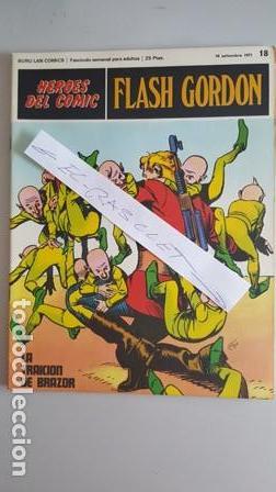 - HEROES DEL COMIC - FLASH GORDON Nº 18 - 10 DE SEPTIEMBRE DEL 1971 - (Tebeos y Comics - Buru-Lan - Flash Gordon)