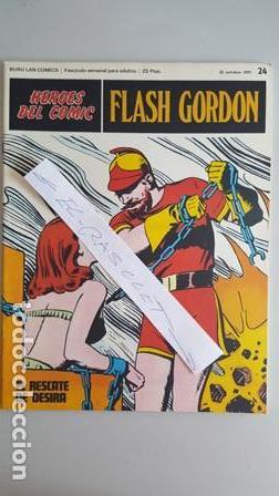 - HEROES DEL COMIC - FLASH GORDON Nº 24 - 22 DE OCTUBRE DEL 1971 - (Tebeos y Comics - Buru-Lan - Flash Gordon)