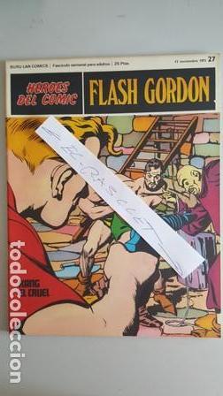 - HEROES DEL COMIC - FLASH GORDON Nº 27 - 12 NOVIEMBRE DEL 1971 - (Tebeos y Comics - Buru-Lan - Flash Gordon)