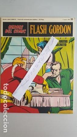 - HEROES DEL COMIC - FLASH GORDON Nº 35 - 7 ENERO DEL 1972 - (Tebeos y Comics - Buru-Lan - Flash Gordon)