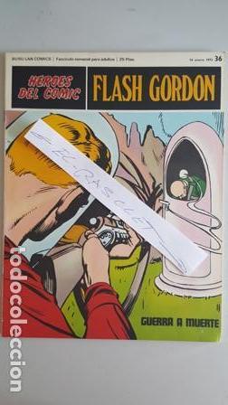 - HEROES DEL COMIC - FLASH GORDON Nº 36 - 14 ENERO DEL 1972 - (Tebeos y Comics - Buru-Lan - Flash Gordon)
